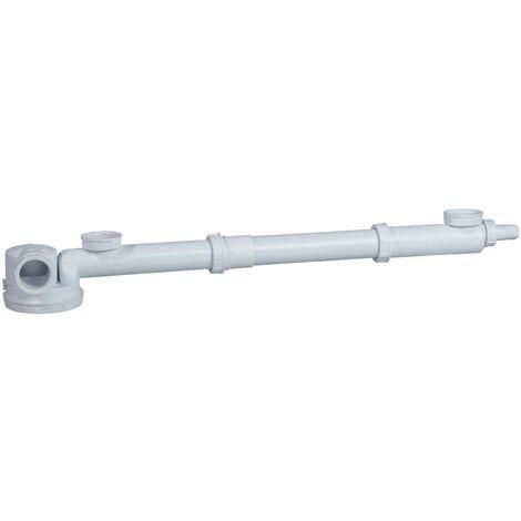 Tubulure avec siphon extra-plat intégré et rallonge -