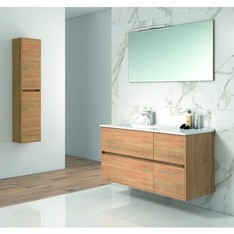 Tuela Mueble de baño con lavabo ceramico 4 Cajones 120 cms. Hera
