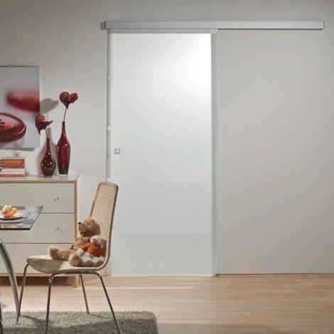 Tür Schiebetür Glas satiniert 880 x 2035 Zimmertür Glasschiebetür Glastür