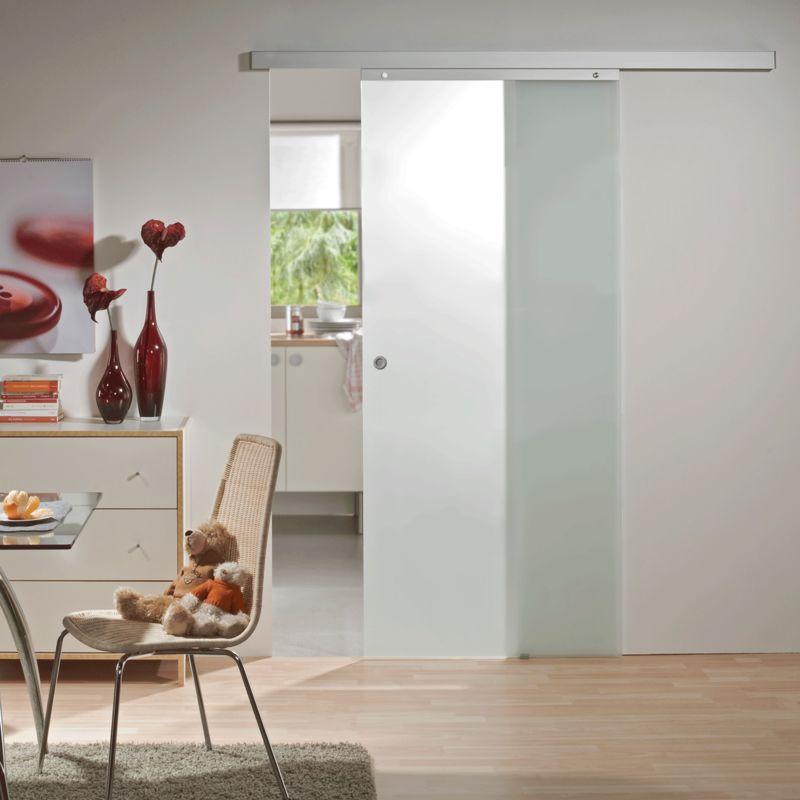 Tür Schiebetür Glas satiniert 900 x 2035 Zimmertür Glasschiebetür ...