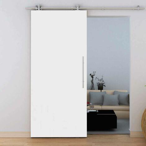 Tür Schiebetür Holz weiß 775x2065 Zimmertür Holztür offene Schiene