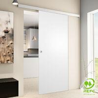 Tür Schiebetür Holz weiß 900x2035 Zimmertür Holztür Schiebetürsystem