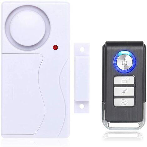 Tür- und Fensteralarm, Diebstahlalarm Mit Fernbedienung Für Die Sicherheit Zu Hause, 105 db Super Laut (EinschließLich 1 Alarm Und 1 Fernbedienung)