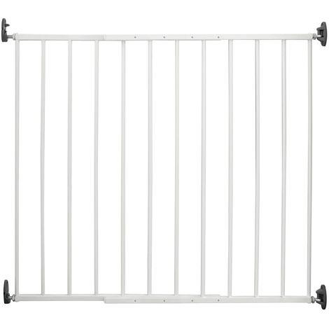 Tür- und Treppenschutzgitter Basic H 75 X B 68 - 106 cm, Stahl weiß