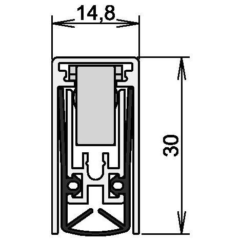 Athmer Absenkdichtung Schall-Ex® Applic A Ausl.1-s.L.805mm Alu silber