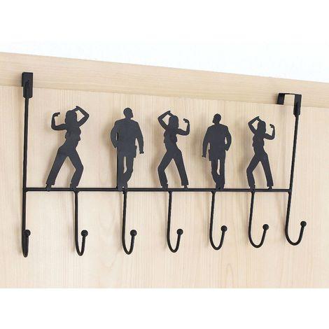Türgarderobe 131017 schwarz Türhaken 42 cm Garderobe KleiderhakenHakenleiste