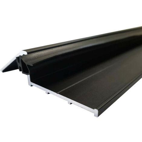 Türschwelle 93 cm mit Dichtung - schwarz eloxiert