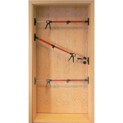 Türspanner Türspreize 3 Stück Türfutterstrebe 50-115 cm Zargenspanner
