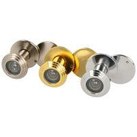 Türspion Türgucker aus Metall Chrom glänzend für Türstärken 55mm-80mm