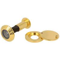 Türspion Türgucker aus Metall Gold Optik für Türstärken von 55mm-80mm