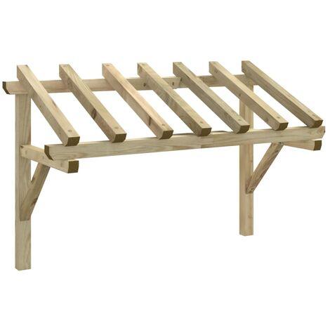 Türvordach 200×100×160 cm Kiefer Massivholz