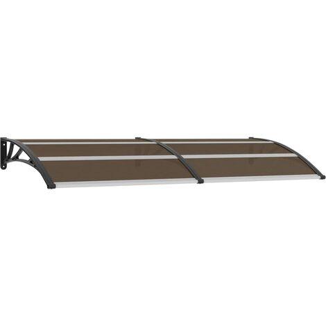 Türvordach Schwarz 240x100 cm PC