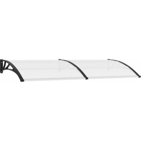 Türvordach Schwarz und Transparent 240×80 cm PC