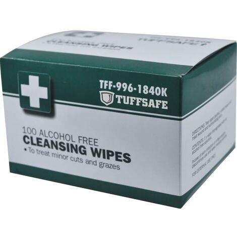 Tuffsafe Alcohol Free Wipes (PK-100)