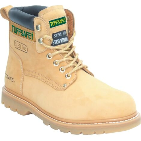 Tuffsafe Safety Boot Sbp Nubuck Welted Honey BBH01 SZ.7