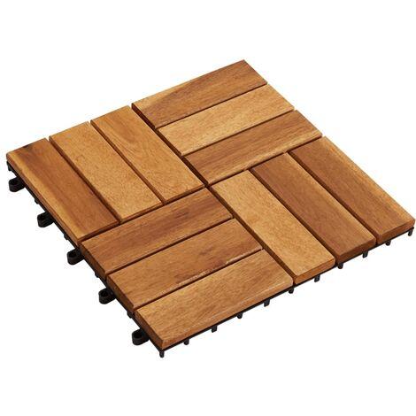 "main image of ""Tuile de plancher en acacia 10 pcs"""