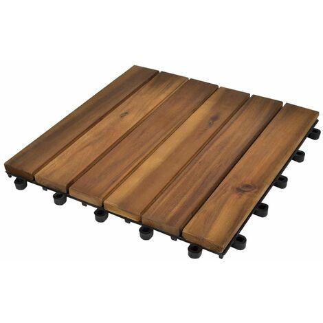 Tuile de plancher en acacia modele vertical 20 pcs