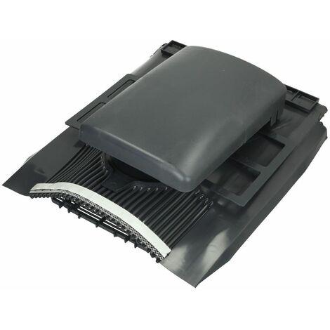 Tuile de ventilation plate universelle Klöber® Venduct DN100 anthracite