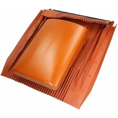 Tuile de ventilation plate universelle Klöber® Venduct DN100 rouge