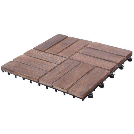 Tuiles de terrasse 22 pcs 30x30 cm Bois de récupération solide