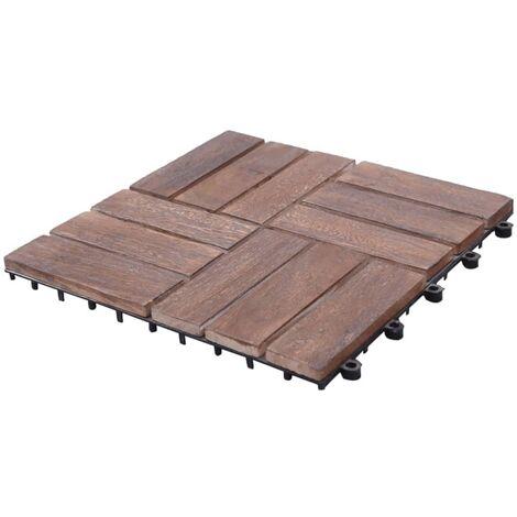 Tuiles de terrasse 33 pcs 30x30 cm Bois de récupération solide