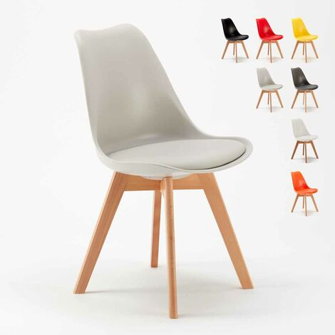 TULIP NORDICA Dining Chair with Cushion Scandinavian Design for Cafès
