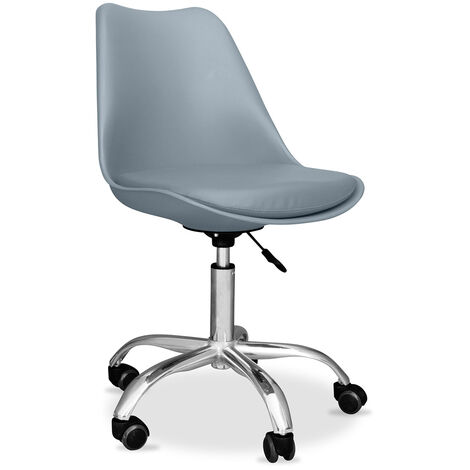 Tulip swivel office chair with wheels