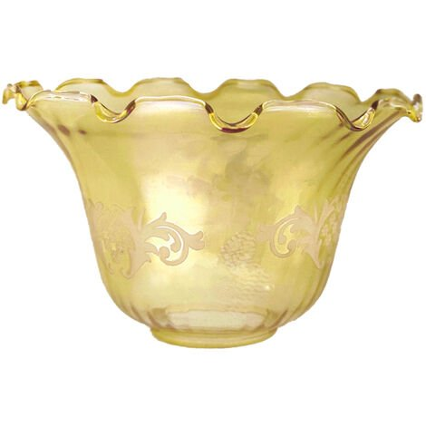 Tulipa de cristal Granada ámbar 10x17cm boca de 5 cm LTDE 1.1910-020