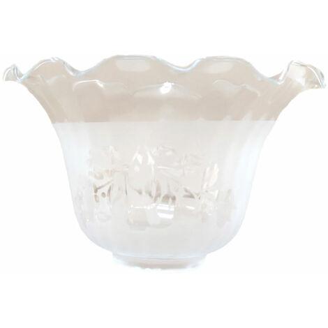 Tulipa de cristal Granada mate 10x17cm boca de 5 cm LB 529582