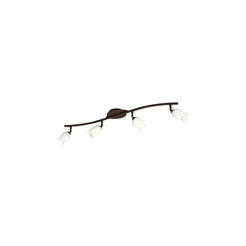 TULIPIA Barra marrone anticato vetro fiore