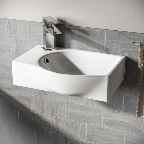 Tulla Cloakroom Rectangle Basin Sink
