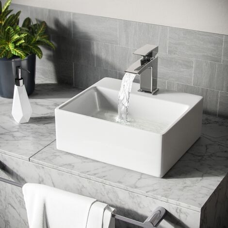 Tulla Cloakroom Rectangle Counter Top Basin Sink