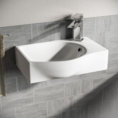 Tulla Wall Hung Rectangle Basin Sink