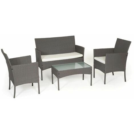 TULUM - Garden furniture in wicker - GRAY / GRAY - Grey