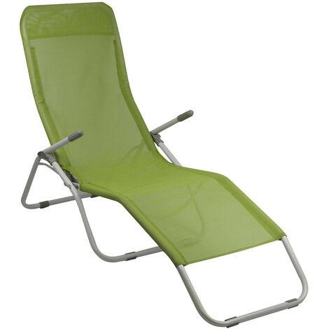 Tumbona Ajustable 2 Posiciones Textil Verde GH91