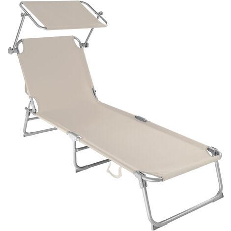 Tumbona con 4 posiciones - tumbona de jardín plegable, mueble para patio con respaldo ajustable, asiento de terraza impermeable