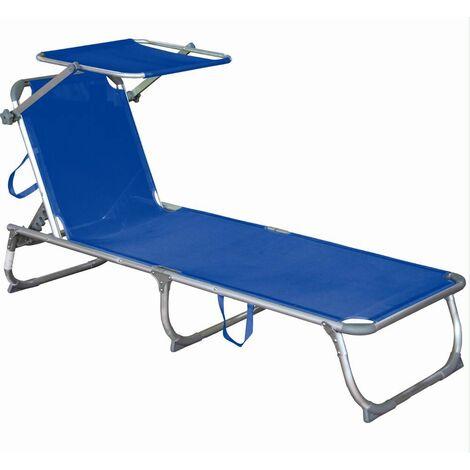 Tumbona con capota, trípode azul, aluminio / acero ajustable Harms 504709
