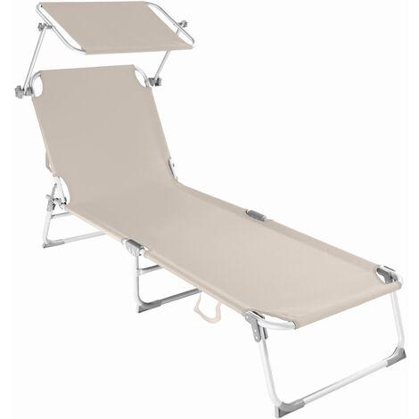 Tumbona de aluminio Viktoria con 4 posiciones - tumbona de jardín plegable, mueble para patio con respaldo ajustable, asiento de terraza impermeable