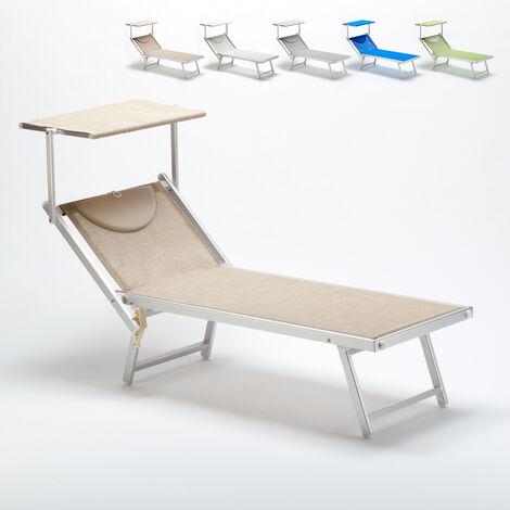 807a8ced Tumbona de playa profesional aluminio parasol jardin piscina ITALIA ...