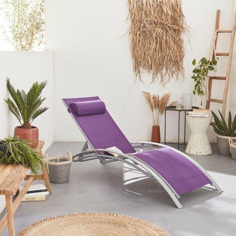 tumbona textileno violeta en S