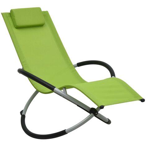 Tumbona para niños acero verde
