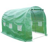 Tunel invernadero de jardín con puerta batiente Mimosa - 9m² - 4.5 x 2 x 2 m
