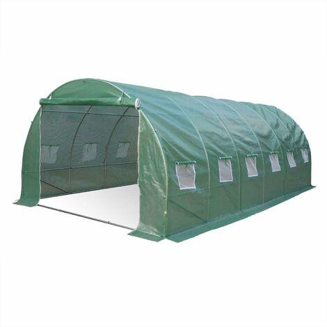 Túnel invernadero de polietileno de 18m², invernadero para huerto- ROMARIN