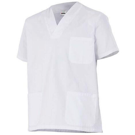 Tunique d'entretien et santé manches courtes homme 100% coton 190 gr/m2 - Blanc - 535205 - Velilla
