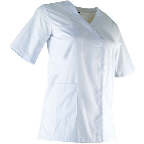 Tunique médicale boutonnée femme - CLINIQUE - Blanc