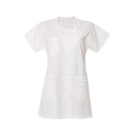 Tunique Médicale Femme blanche manches courtes Blanc 00 (32-34) - Blanc