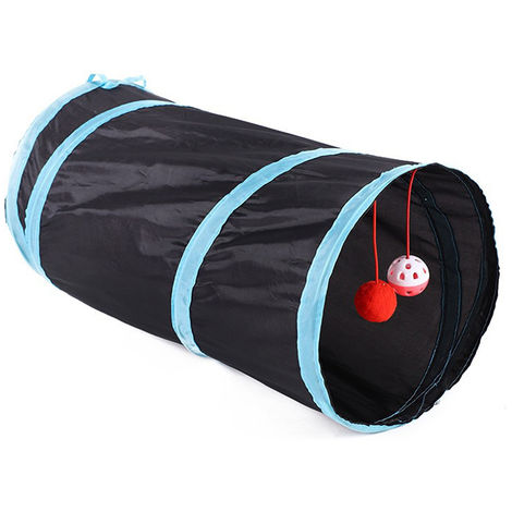 Tunnel Cat Indoor 1 Way Pet Tunnel De Jeu Tunnel Pliable Tube Kitty Tunnel Peek Trou Jouets Pour Animaux Jouets Pour Chats Chiots Lapins, 50Cm