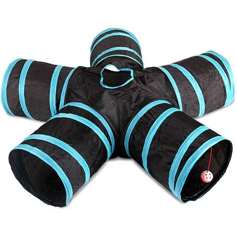 Tunnel Cat Indoor 5 Way Pet Tunnel De Jeu Tunnel Pliable Tube Kitty Tunnel Peek Trou Jouets Pour Animaux Jouets Pour Chats Chiots Lapins