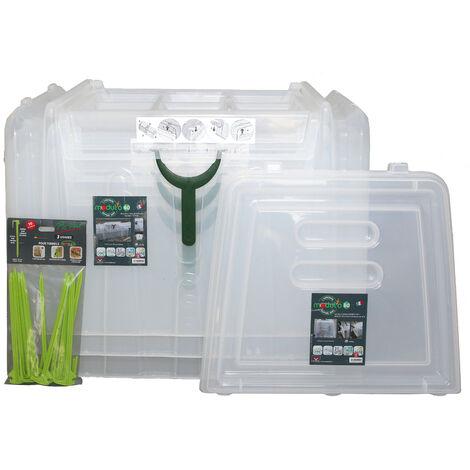 Lot de 3 tunnels Modul'o 60 (79x59x50cm) + 1 jeu de 2 embouts + 1 lot de 10 piquets de tunnel
