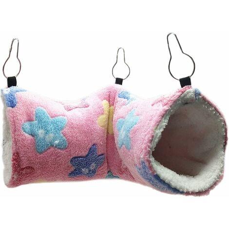 Tunnel suspendu pour petits animaux, Hamster jouets suspendus, balançoire pour hamac, Accessoires de literie pour Chinchilla furet, écureuil, cochon d'Inde, rat, jouant dormir